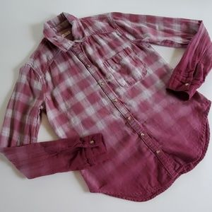 Hollister plaid button down size xs